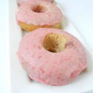 Baked Whole Grain Strawberry Donuts
