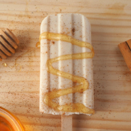 Cinnamon honey kefir popsicles