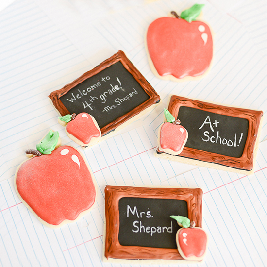 Back to School Chalkboard Cookie