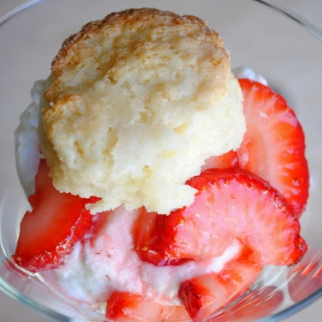 Bourbon Soaked Strawberry Shortcake